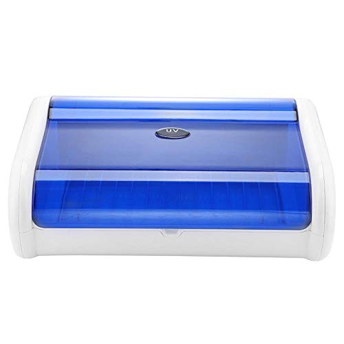 UV-Sterilisatorschrank, professioneller 8-W-Desinfektionstemperatur-Desinfektionsschrank mit UV-keimtötender Lampe für Rasierer, Nagelscheren, Make-up-Werkzeuge Nail Art Equipment