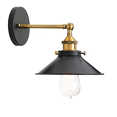 Permo Vintage Industrial Metal Wall Sconce Lighting 180 Degree Adjustable Wall Lamp