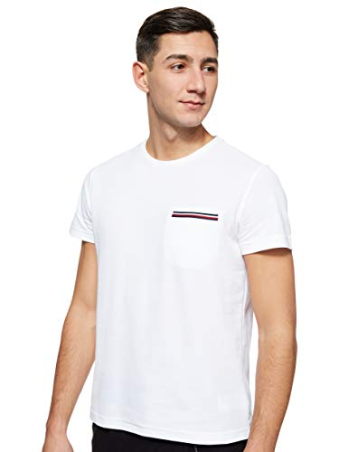 Tommy Hilfiger RWB Pocket Flex Tee Camicia Sportiva, Bianco (White), X-Small (Taglia Unica:) Uomo