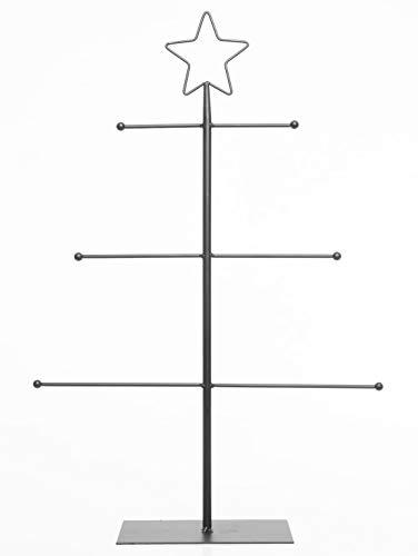 Kaemingk Decorativi Eisenständer Portagioie per Miscuglio Ciondolo Metallo Verniciato Nero 2 Possibili Misure - Nero, Mittel 3 Ebenen