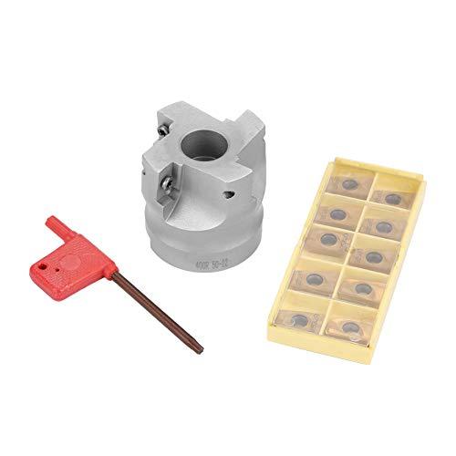 BAP400R-50-22-4F CNC Planfräser + 10 Stücke APMT1604 Hartmetalleinsätze + T15-Schlüssel