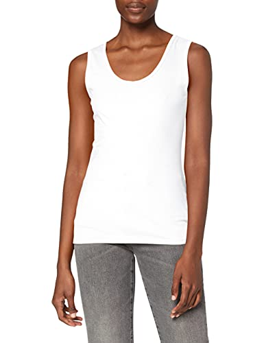 Fruit Of The Loom Lady-Fit Valueweight, Damen Tank-Top,Weiß,Small
