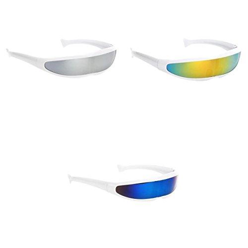 D DOLITY 3X Gafas de Sol de Visera de Lente Espejada Color Cíclope Cosplay Photo Props Disfraz Único Entretenimiento