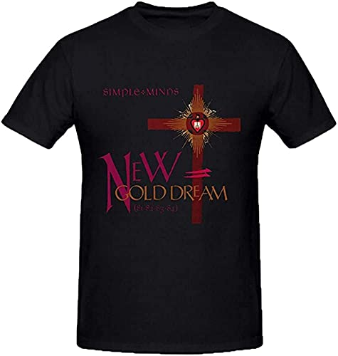 Simple Minds New Gold Dream T-shirt, Black, S to 3XL
