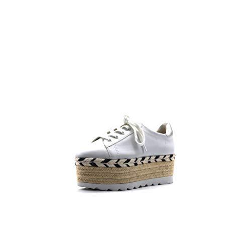 Guess Gracen/Derby/Leather, Sneaker Donna, Bianco, 36 EU