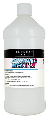 Sargent Art Pouring Acrylic Medium, 32 oz, 32 Fl Oz