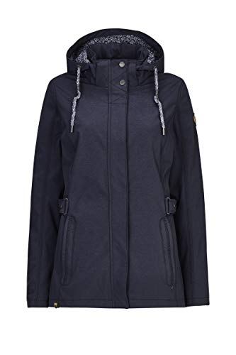 G.I.G.A. DX Softshelljacke Damen Alkara - Damenjacke mit abzippbarer Kapuze - Outdoorjacke ist wasserabweisend, navy, 46