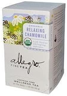Allegro Fine Tea Organic Relaxing Chamomile Caffeine Free 20 Tea Bags 1.05 oz (30 g) by Allegro