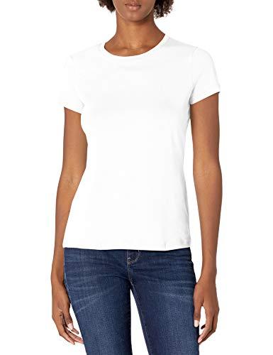 Nautica Women's Classic Fit Crew-Neck J-Class T-Shirt, Bright White, Medium
