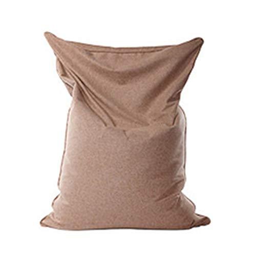 WXFN Klassischer Sitzsack Für Sessel Oder Sofas Ohne Füllung, Bezug Für Liegestuhl, Aus Natürlichem Baumwoll- Und Leinenstoff (Helles Khaki)