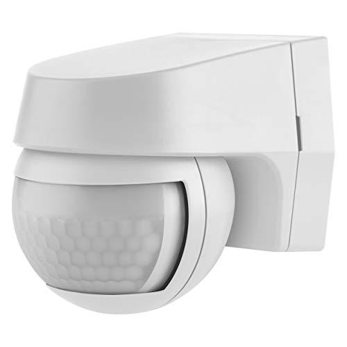 LEDVANCE Sensor Wall 110 | Détecteur Extérieur 2-en-1 de Mouvement & Crépusculaire | Capteur mural | Angle de détection 110° | Blanc | Etanche IP44