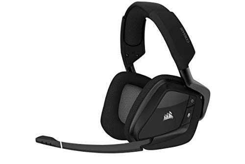 Corsair VOID RGB Elite Wireless Premium Gaming Headset with 7.1 Surround Sound, Carbon (Renewed) Headsets
