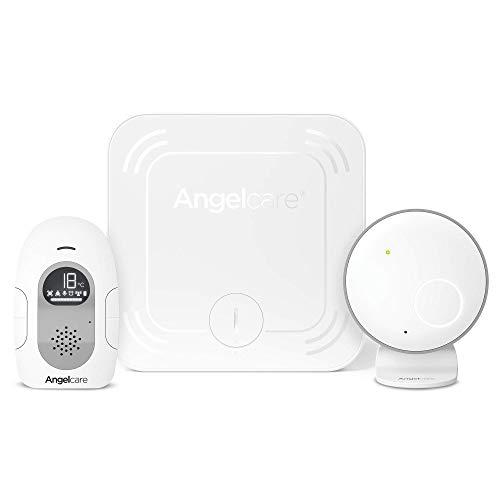 Angelcare AC127 Babyphone mit Bewegungsmelder, Temperaturanzeige, batteriebetrieben oder mit Netzteil, Weiß