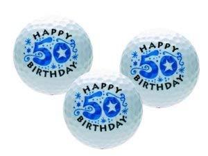 CEBEGO Golfballset HAPPY 50er, Golfball Geburtstag,Golfbälle als Geschenk by CEBEGO®, Motivgolfbälle Golfgeschenke Golfartikel,Golfzubehör Golf-Gift