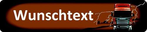 Scania Nummernschild zum Selbstgestalten und Bedrucken Witterungsbeständig Farbecht Ideale Geschenkidee | Metallschild, Aluminium-Schild als individuelles Trucker-Accessoire | LKW-Zubehör selbst gestalten | Aluschild, Kennzeichen-Schilder mit Namen &