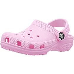 Crocs Kids' Classic Clog | Slip On Shoes for Boys and Girls | Water Shoes, Carnation, J1 US Little Kid
