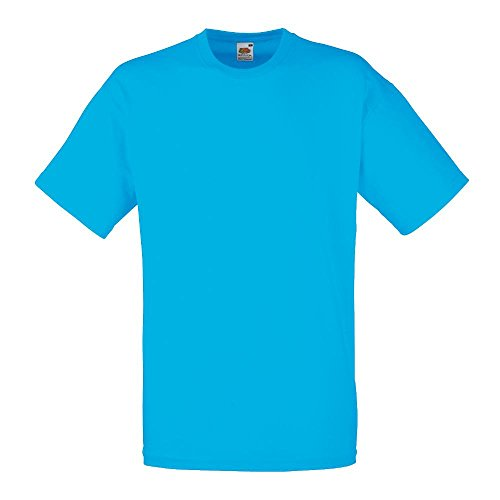 Fruit of the Loom - Classic T-Shirt 'Value Weight' Large,Azure Blue