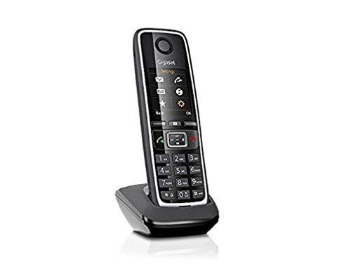 Gigaset C530HX Telefono Portatile Aggiuntivo per Basi DECT, Modem Router Dect come AVM e TP-Link e Modem Fibra, Nero [Versione Italia]