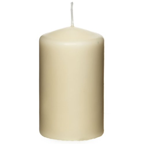 Britwear 12 x Premium Quality Pillar Church Candles Unscented BULK Large Pack WeddingsColour:Ivory Size:60mm x 80mm (22 hour burn time per candle)