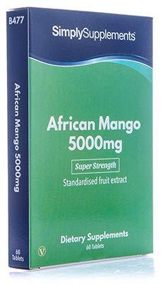 Mango Africano 5000 mg - Apto para veganos - 60 Comprimidos - SimplySupplements