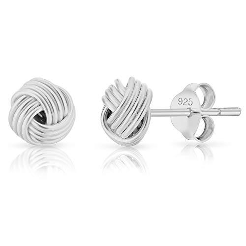 DTPsilver SMALL 925 Sterling Silver Studs Earrings - Celtic Knot - Diameter 7 mm