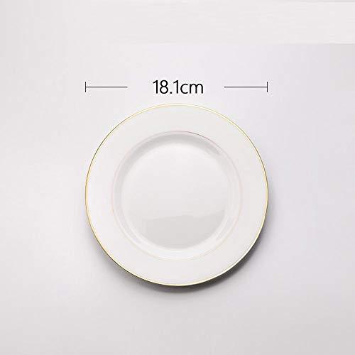 Eettafel Europese stijl keramische bord Westelijke eten bord steak bord huishouden bord servies -7 inch zonder letters