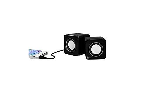 ARCTIC S111 M - Mobiles Mini-Soundsystem, Mini Speaker mit überzeugender Klangqualität für Smartphone, Tablet oder Laptop, bis zu 12h Akkulaufzeit, kraftvolle Bässe und kompaktes Design - Schwarz