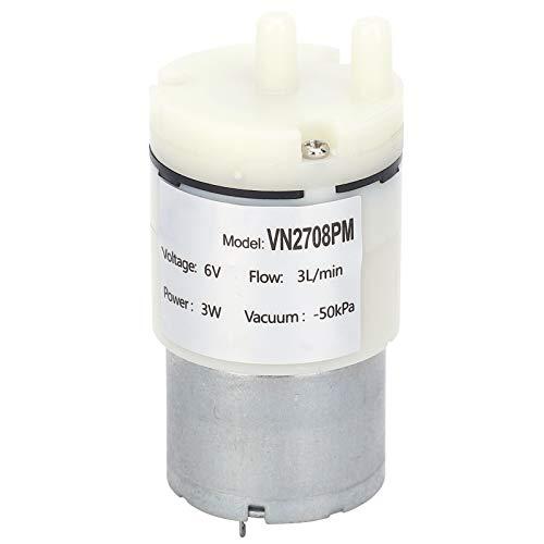 YUUGAA Motor de Bomba de Aire, Bomba de Micro diafragma Mini Motor de Aire de Agua al vacío para pecera DC 6V (VN2708PM 3 Piezas