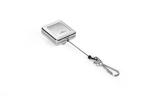 Durable 832823 Schlaufenclip JoJo Chrome Quadro (mit Federhaken) silber
