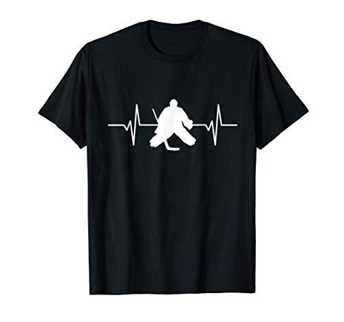 Hombre Innovación Hockey sobre hielo Portero Lifeline Heartbeat Fan Camiseta
