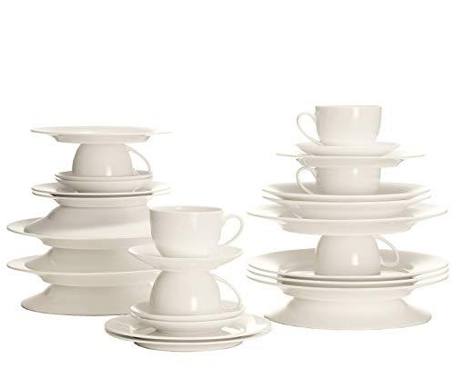 Maxwell & Williams BC188232 Cashmere round Kaffeeservice, Tafelservice, Geschirrset, 30-teilig, in Geschenkbox, Porzellan