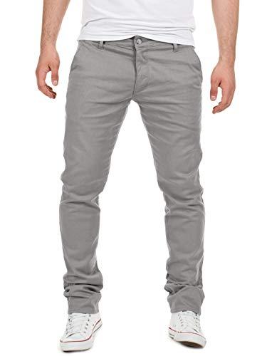 Yazubi Chino Hosen für Herren - Modell Dustin by Yzb Jeans Slim fit - Graue Chinohose Casual mit Stretch, Grau (Gull 4R173802), W33/L34