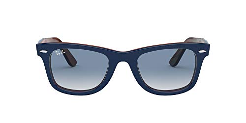 Ray-Ban 0RB2140 Gafas de sol, Top Blue On Red Havana, 50 Unisex