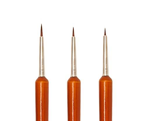 PROFICO Pinselchensatz zur Nägelverzierung | Komfort und Vielfältigkeit beim Nagelstyling | 3 Stück | AGB-159