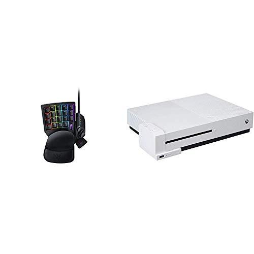 Razer Tartarus V2 Gaming Keypad (mit Mecha-Membran Tasten, 32 programmierbare Tasten,RGB Chroma Beleuchtung und Mecha-Membran Tasten) schwarz & AmazonBasics - Ladegerät für Controller-Akkus, Weiß