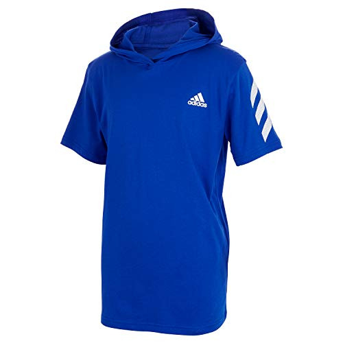 adidas Boys' Big Short Sleeve Hooded T-Shirt