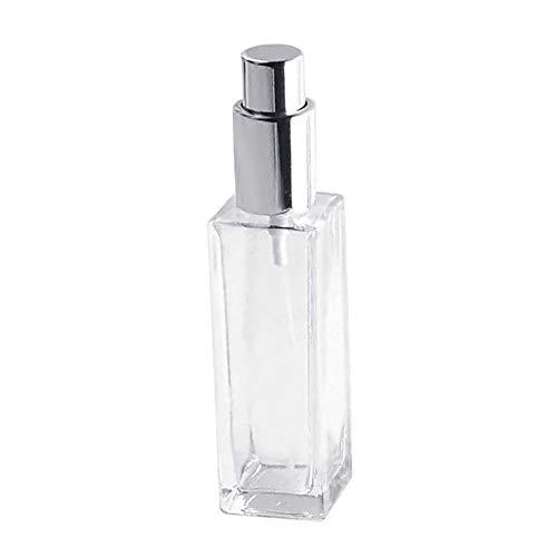 puran Flacons en verre de 30/50 ml - Vaporisateur de parfum - Vaporisateur vide, portable et rechargeable - Argenté - 30 ml