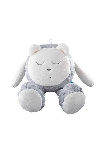 myHummy Einschlafhilfe Baby mit Sensor Snoozy weiß grau | White Noise Baby Einschlafhilfe Kinder zur Baby Beruhigung ab 0 Monate | My hummy Einschlafhilfe mit Sensor Wolke Schaf