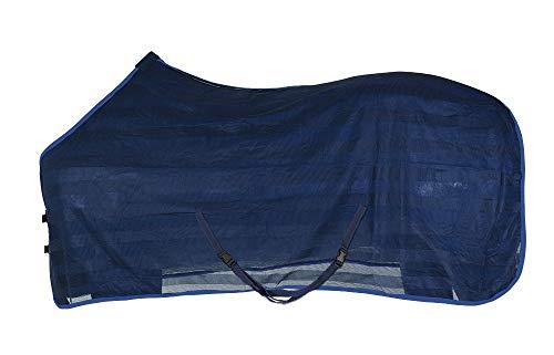 PFIFF 102309-20-135 Couverture Anti-Mouches pour Cheval Bleu Taille Unique