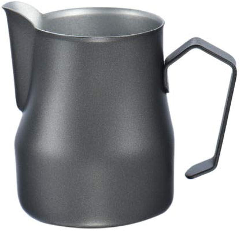 FidgetFidget Motta Stainless Steel Milk Frothing Jug Coffee Pitcher Cup 12 19 126 Fluid Ounce Black 500ml