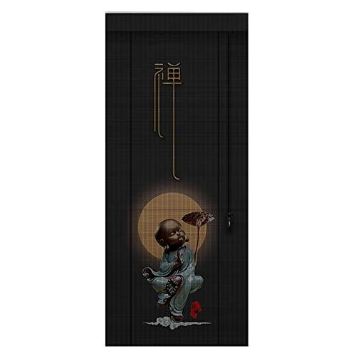 CHAXIA Persiana De Bambú Estor Enrollable Llevado por Barco Impresión Levantamiento Sala Habitación Retro Zen Amigable con El Medio Ambiente, 3 Estilos, Personalizable