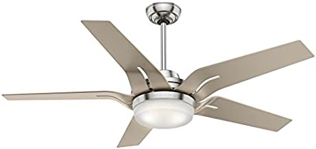 Casablanca Indoor Ceiling Fan with LED Light and Remote Control - Correne 56 inch, Brushed Nickel, 59197