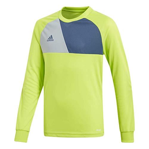 adidas Kids' Assista 17 Goalkeeper Jersey, Solar Slime/Night Marine/Light Grey, Medium