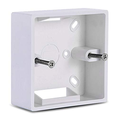 Caja de conexiones de PVC de 86 x 86 mm para exteriores, montaje en pared, cassette para interruptor externo, impermeable, base de enchufe, accesorios de caja eléctrica