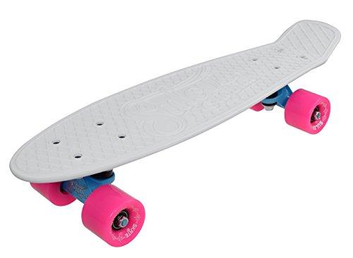 SULOV Penny Board Neon Speedway, Unisex, Penny Board Neon Speedway, bianco/rosa, 55 x 14.5 x 12 cm