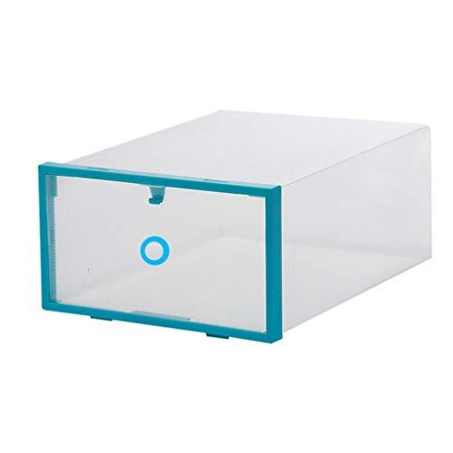 Plastic Lade Schoenenkast Universele Home Organizer Stapelbare Schoenen Opbergdoos Blauw