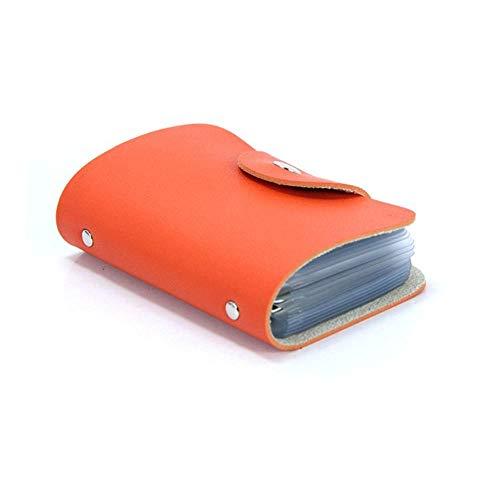 Visitenkartenbuch Ausweis Und Kartenmappe Karte Geldbeutel Kreditkartenhüllen Praktische Kleine Litschi Muster 24 Card Bus Card Package Orange