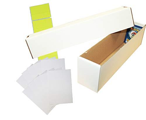 collect-it Riesen Deck-Box - Aufbewahrung (weiß) für ca. 1000 Karten Aller Größen + 10 Kartentrenner