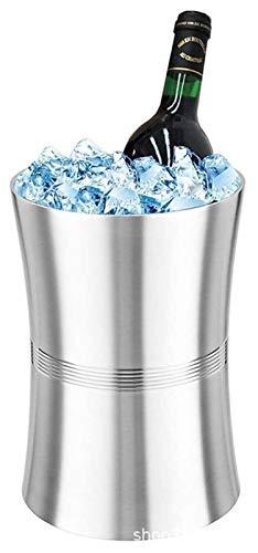 SQHY Cubo de Hielo de Acero Inoxidable Hilo de Cintura Champagne, 2.0L 1222