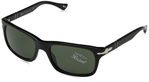 Persol Unisex Classics Sonnenbrille, Schwarz (Gestell: Black Glas: Grey 95/31), Large (Herstellergröße: 58)